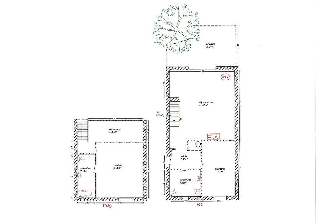 Maison à vendre 3 118m2 à Alignan-du-Vent plan-1