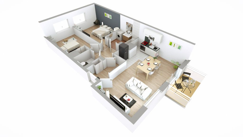 Appartement à louer 3 66.5m2 à Lille vignette-3