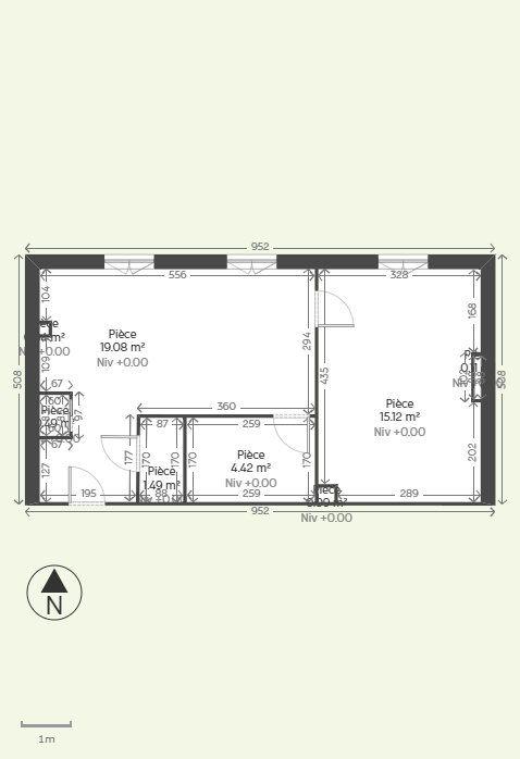 Appartement à louer 2 40.85m2 à Reims plan-1