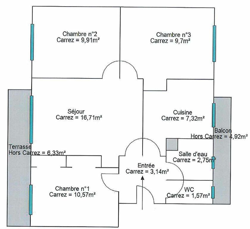 Appartement à louer 3 61.67m2 à La Seyne-sur-Mer vignette-1
