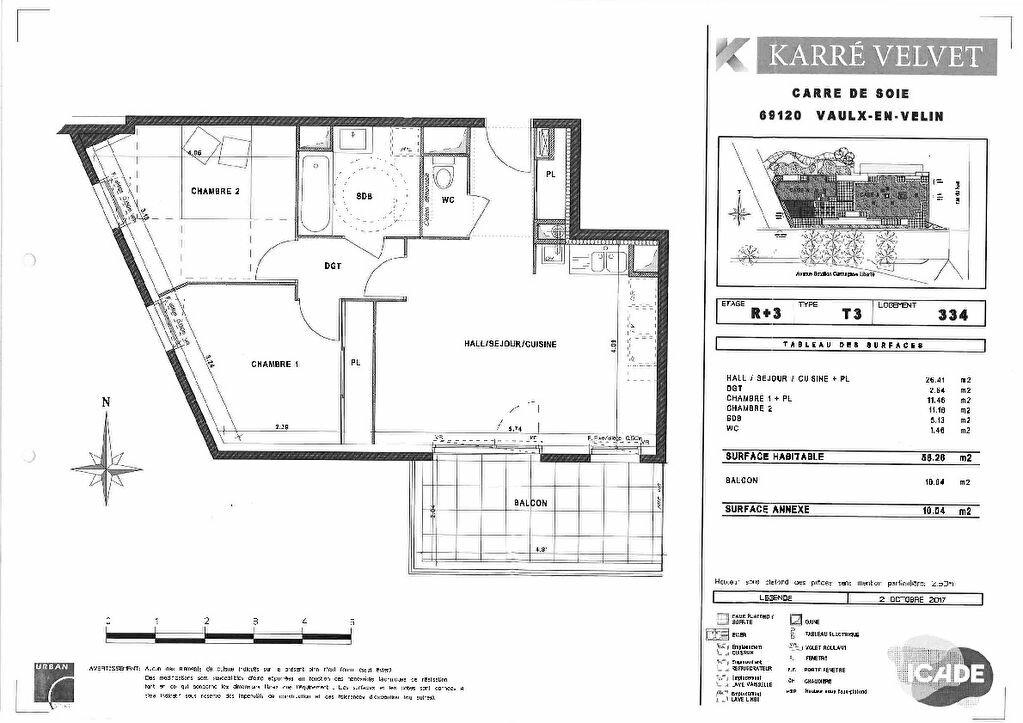 Appartement à louer 3 58.26m2 à Vaulx-en-Velin vignette-3