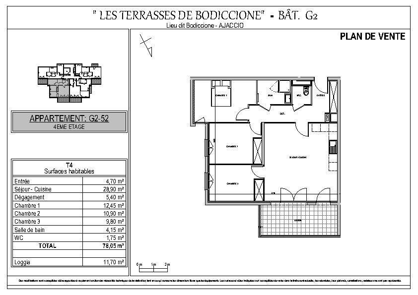 Appartement à vendre 4 78.05m2 à Ajaccio vignette-8