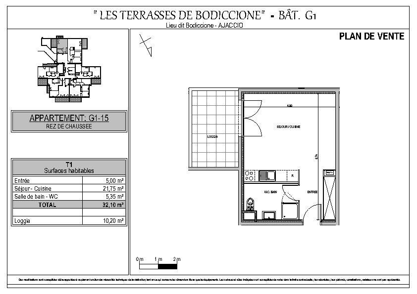 Appartement à vendre 1 32.1m2 à Ajaccio vignette-5