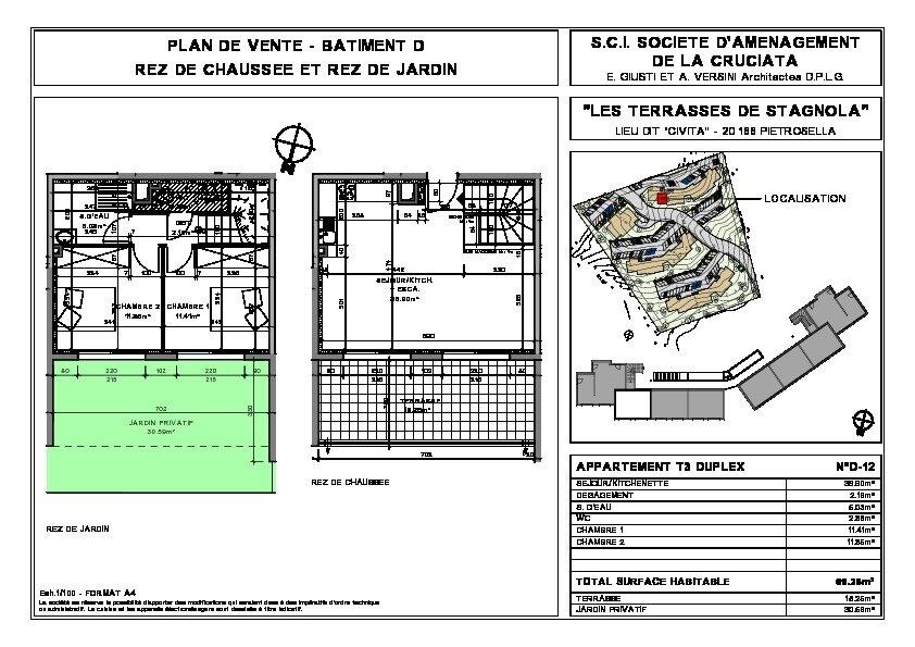 Appartement à vendre 3 69.26m2 à Pietrosella vignette-4