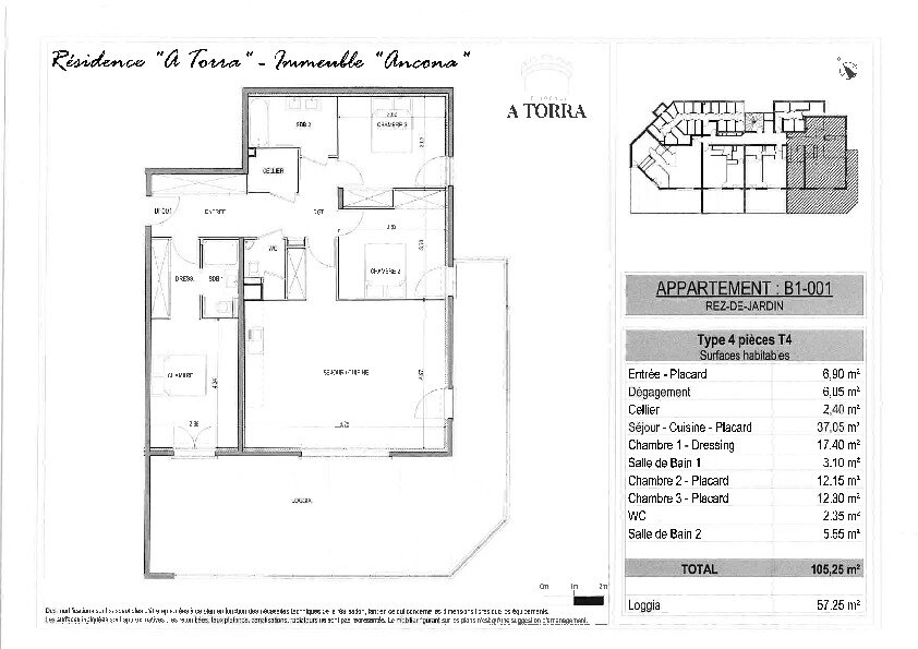 Appartement à vendre 4 105.25m2 à Ajaccio vignette-2
