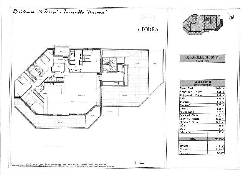 Appartement à vendre 5 213.15m2 à Ajaccio vignette-2