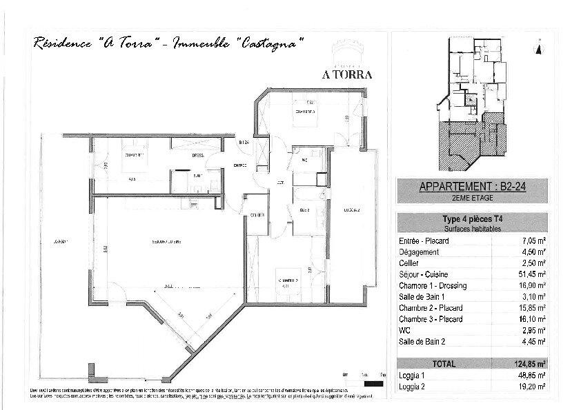 Appartement à vendre 4 124.85m2 à Ajaccio vignette-2