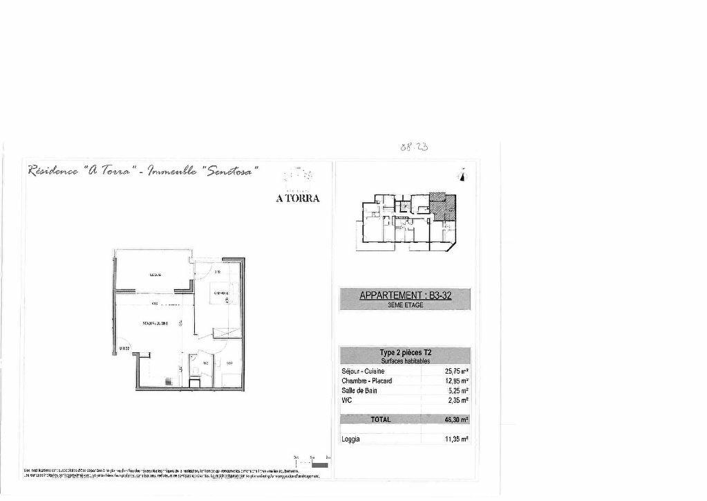 Appartement à vendre 2 46.3m2 à Ajaccio vignette-2