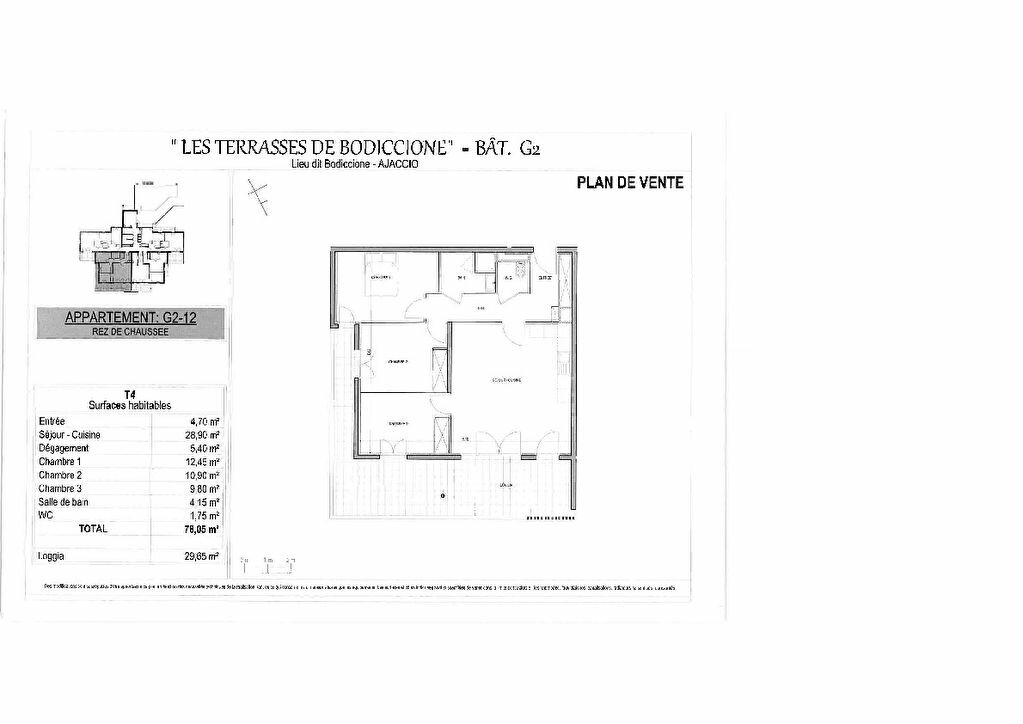 Appartement à vendre 4 78.05m2 à Ajaccio vignette-4