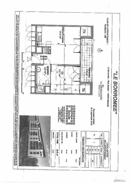 Appartement à louer 2 45m2 à Marseille 5 vignette-7