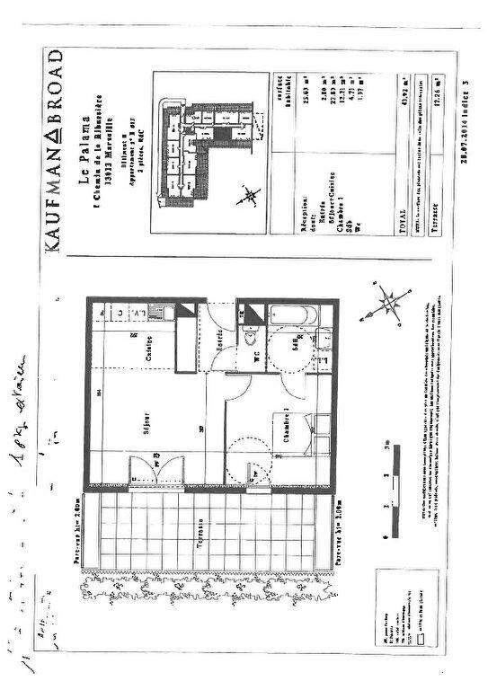 Appartement à louer 2 43.92m2 à Marseille 13 vignette-7