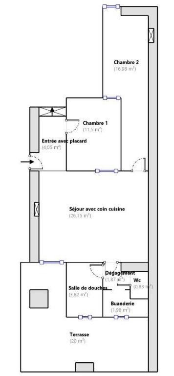 Appartement à vendre 3 67.33m2 à Menton plan-1