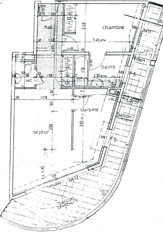 Appartement à vendre 2 46m2 à Menton plan-1