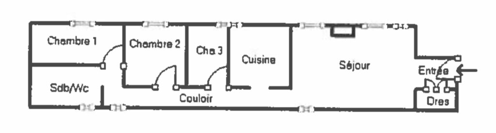 Appartement à vendre 3 92.92m2 à Menton plan-1