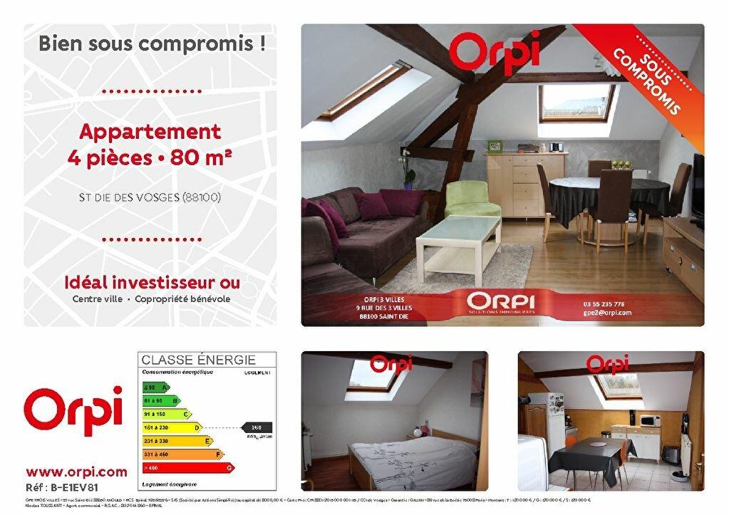 Appartement à vendre 4 79.65m2 à Saint-Dié-des-Vosges vignette-1