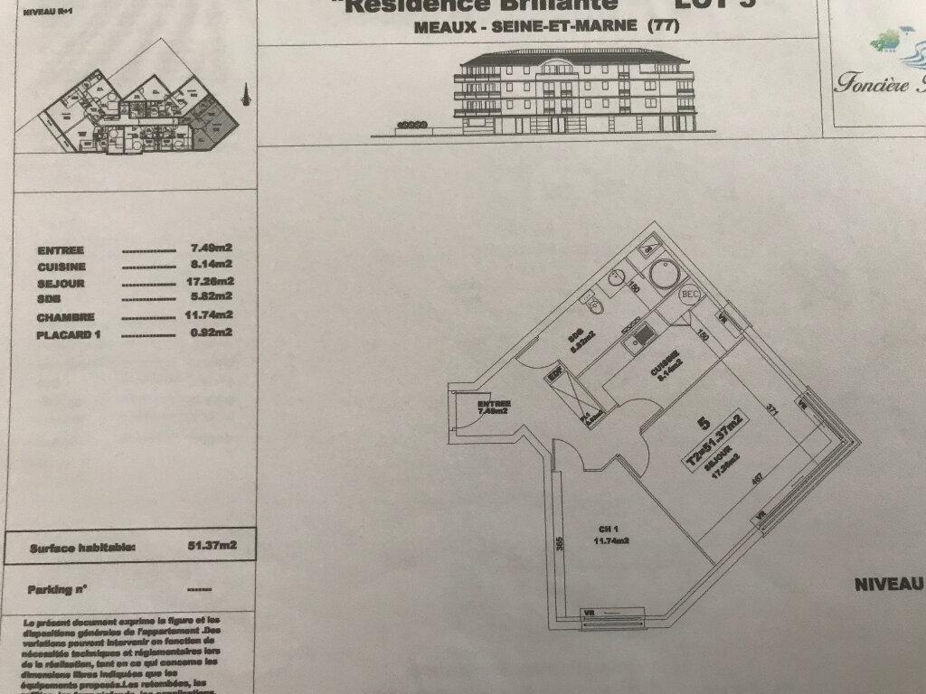 Appartement à vendre 2 51.37m2 à Meaux vignette-6