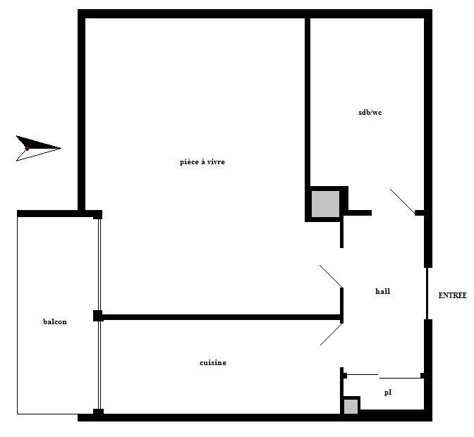 Appartement à louer 1 27m2 à Marseille 12 vignette-6