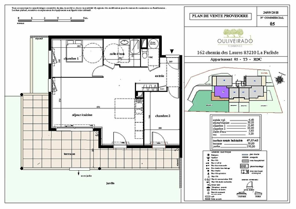 Appartement à vendre 3 67.15m2 à La Farlède vignette-1