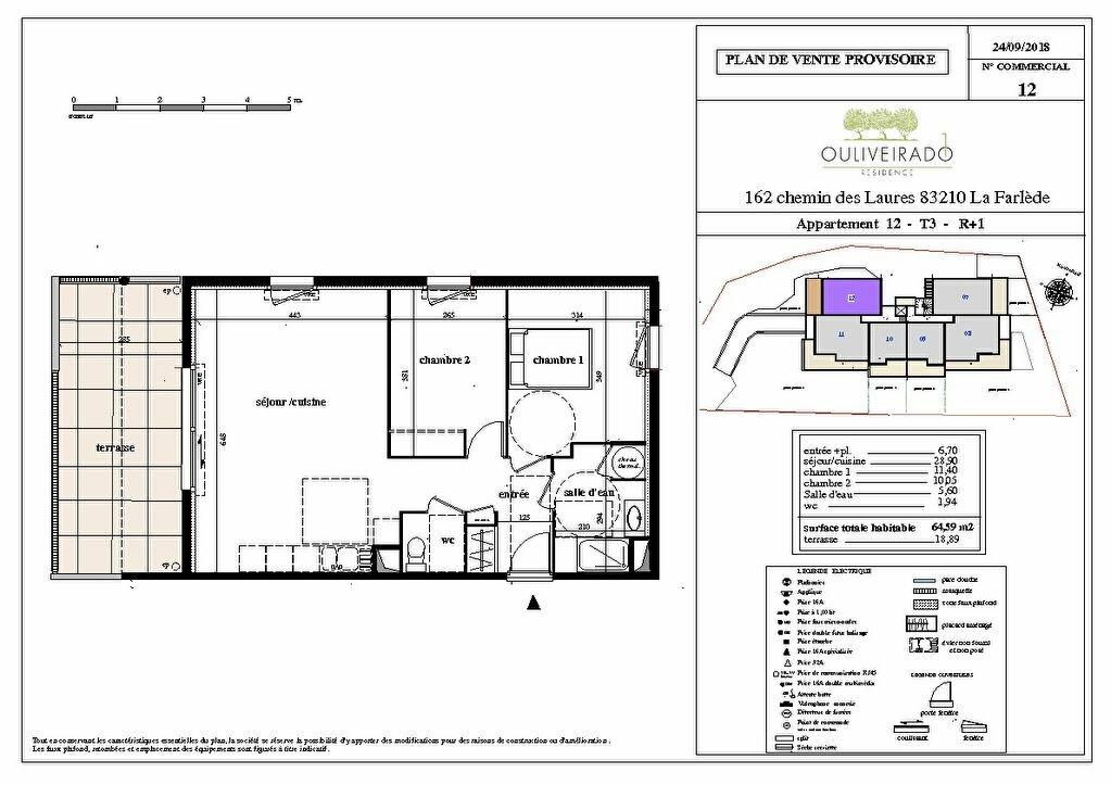 Appartement à vendre 3 64.59m2 à La Farlède vignette-1