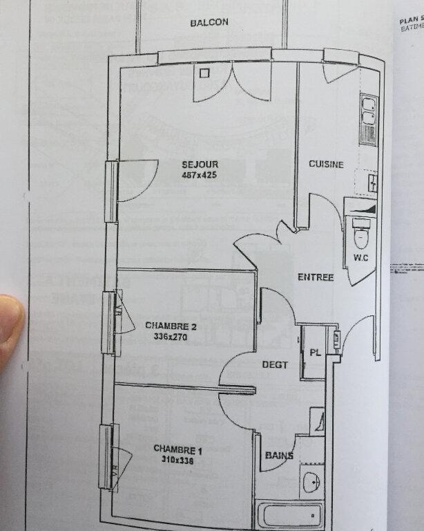 Appartement à louer 3 61.61m2 à Guyancourt plan-1