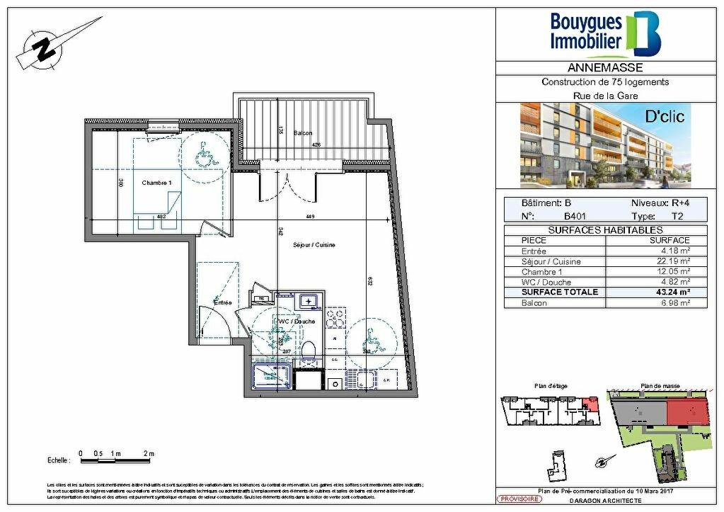 Appartement à louer 2 43.24m2 à Annemasse vignette-2
