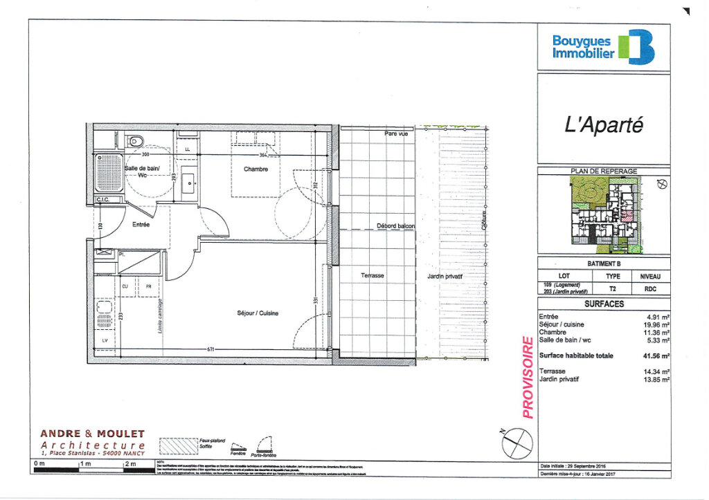 Appartement à louer 2 41.56m2 à Villers-lès-Nancy vignette-2