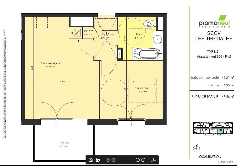 Appartement à louer 2 41.21m2 à Valenciennes vignette-2