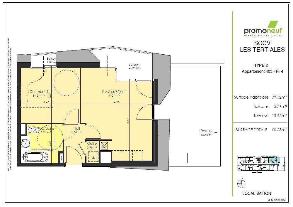 Appartement à louer 2 39.32m2 à Valenciennes vignette-2