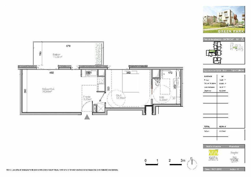 Appartement à louer 2 42.74m2 à Strasbourg vignette-2