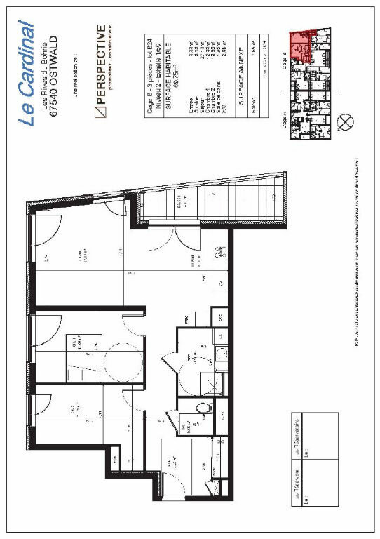 Appartement à louer 3 69.75m2 à Ostwald vignette-10