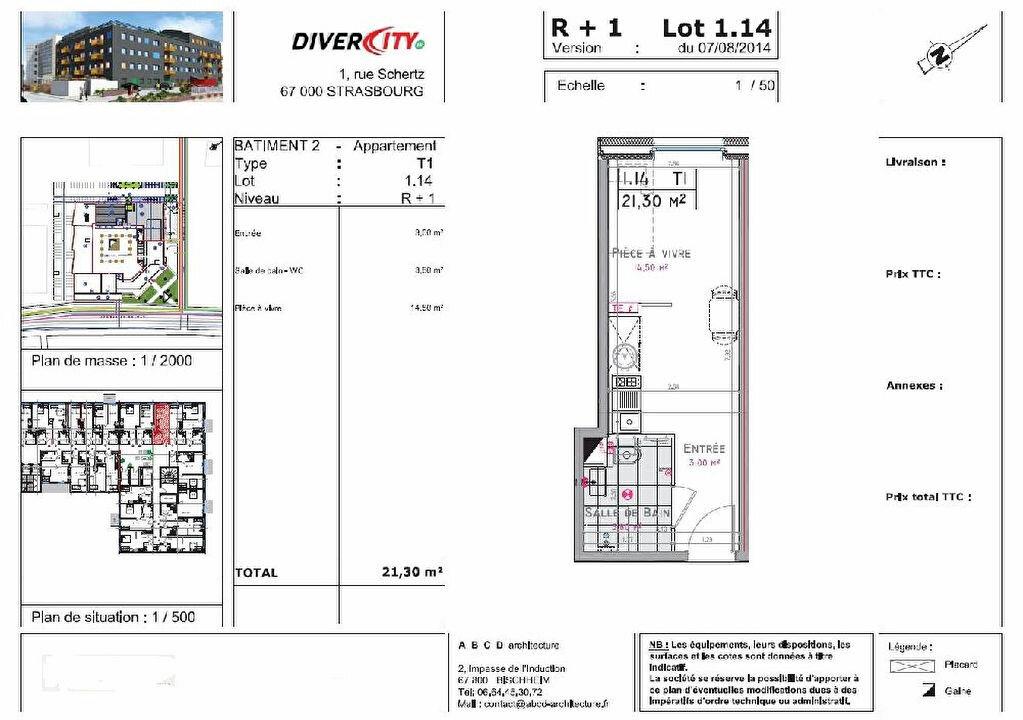 Appartement à louer 1 21.3m2 à Strasbourg vignette-2