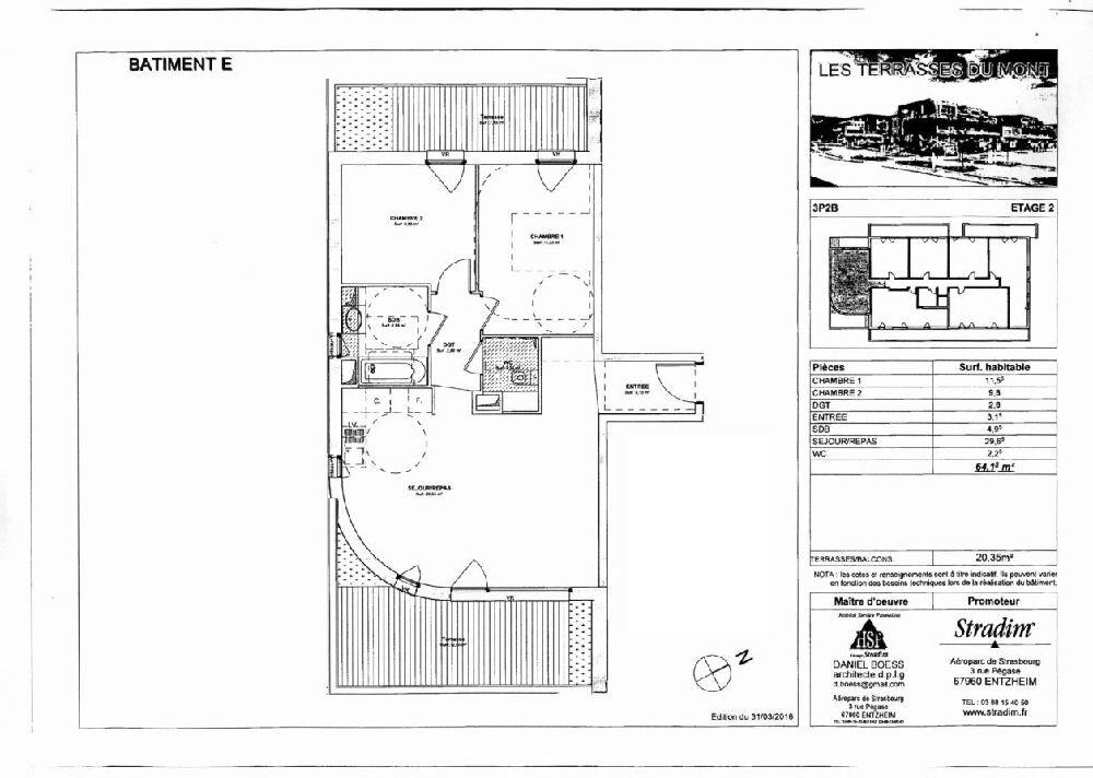 Appartement à louer 3 64.15m2 à Obernai vignette-2