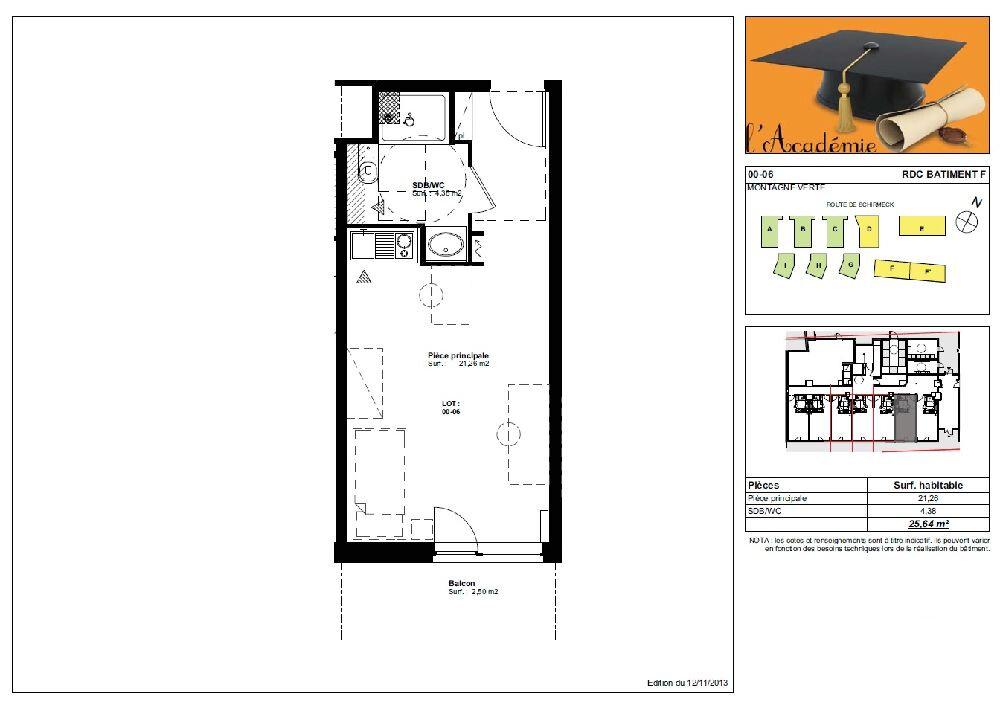 Appartement à louer 1 25.64m2 à Strasbourg vignette-2