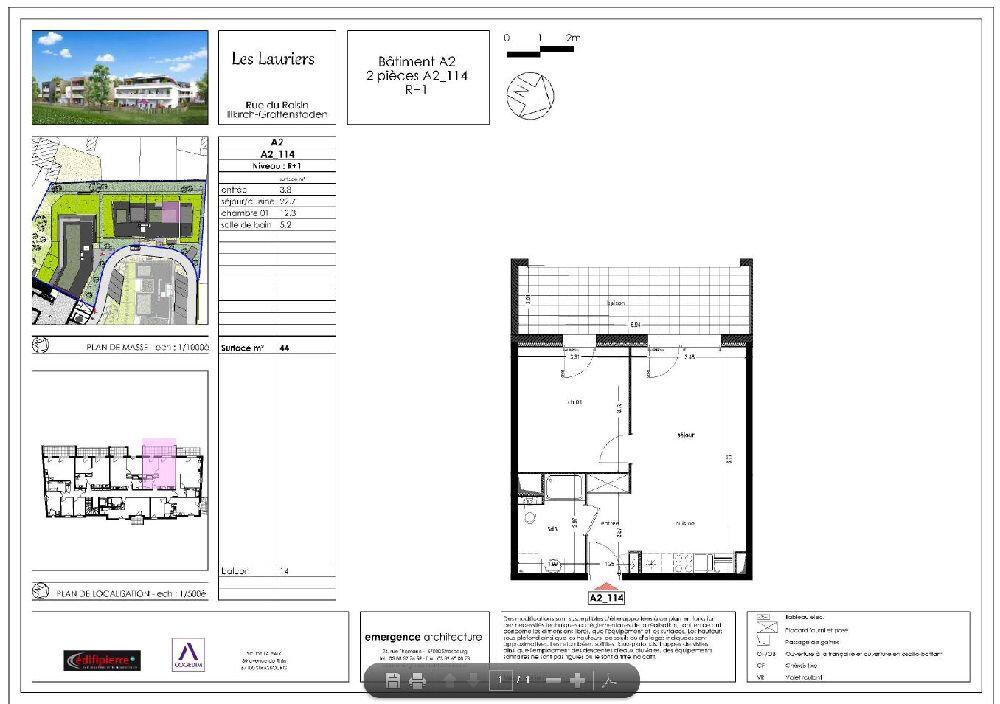 Appartement à louer 2 44m2 à Illkirch-Graffenstaden vignette-2