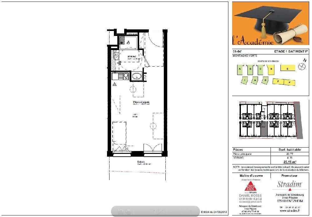 Appartement à louer 1 25.15m2 à Strasbourg vignette-2
