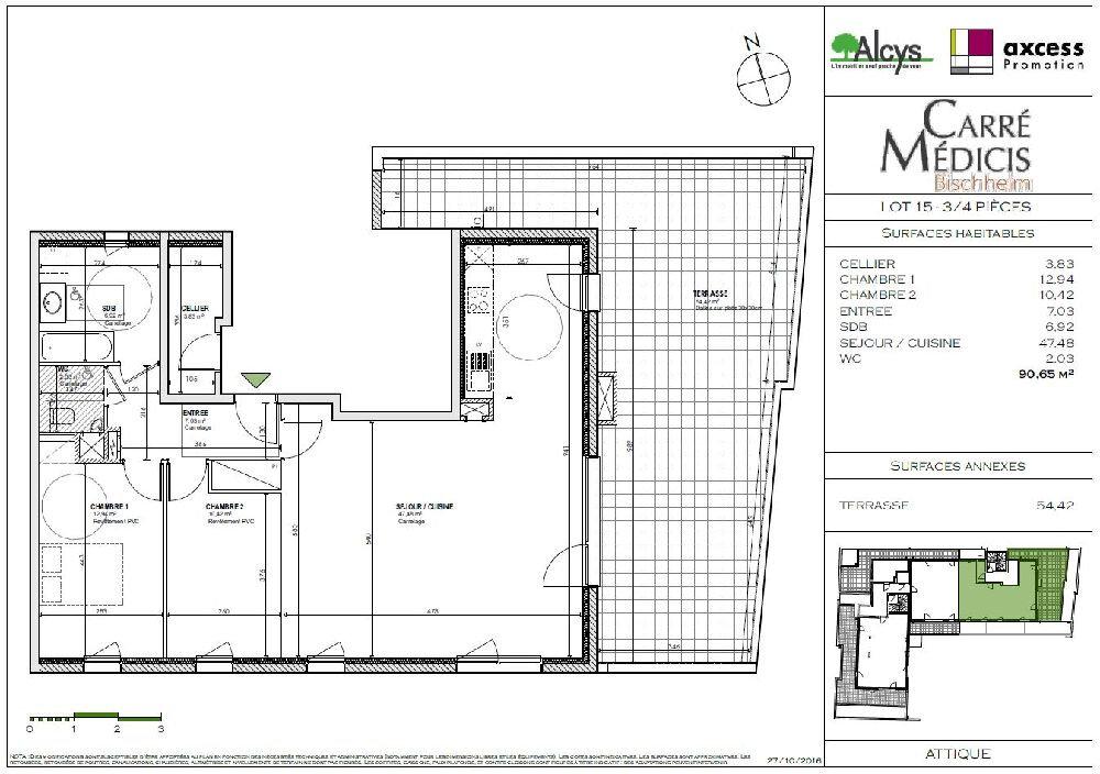 Appartement à louer 3 90.65m2 à Bischheim vignette-5