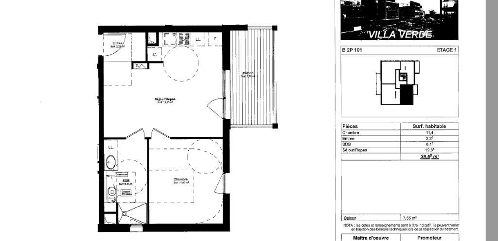 Appartement à louer 2 39.65m2 à Souffelweyersheim vignette-1