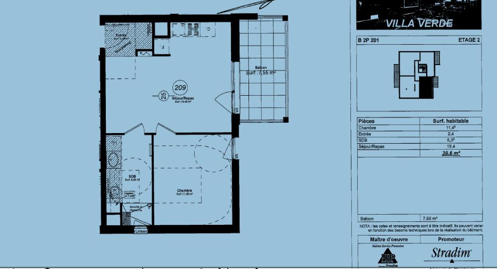 Appartement à louer 2 39.6m2 à Souffelweyersheim vignette-1