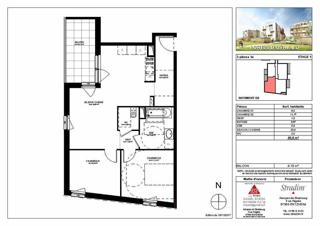 Appartement à louer 3 60.6m2 à Strasbourg vignette-2