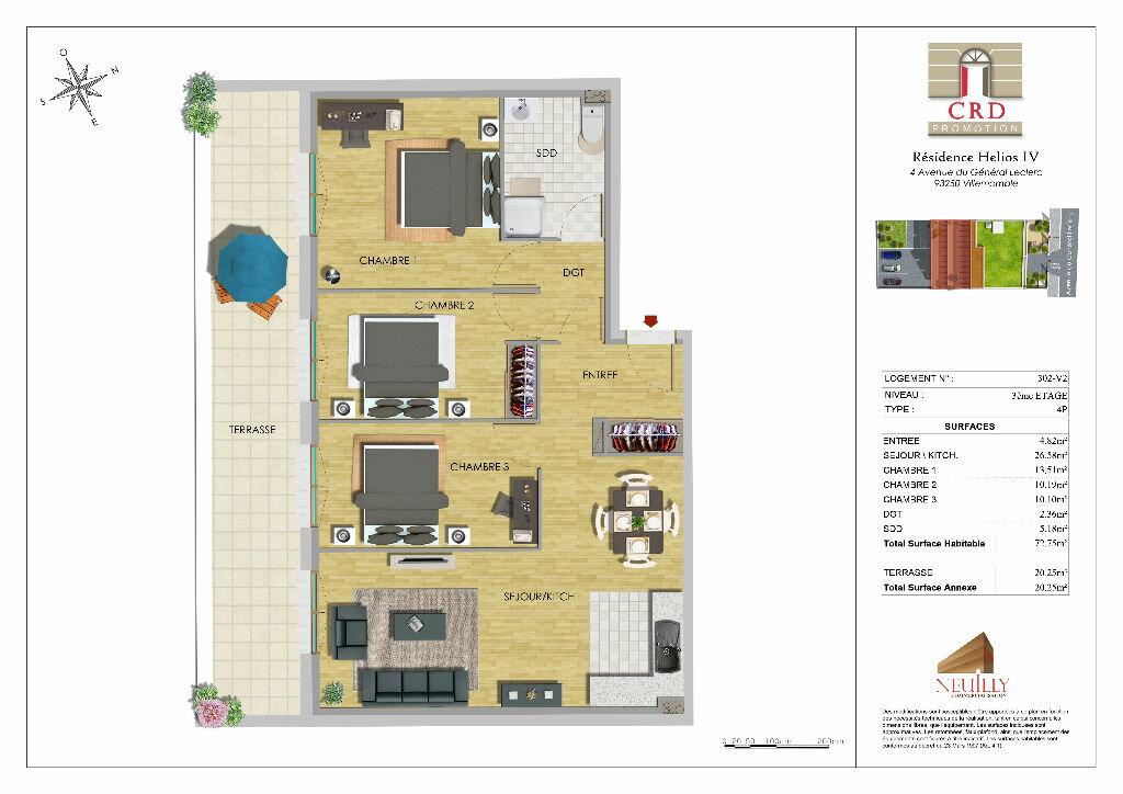 Appartement à vendre 4 73m2 à Villemomble vignette-3