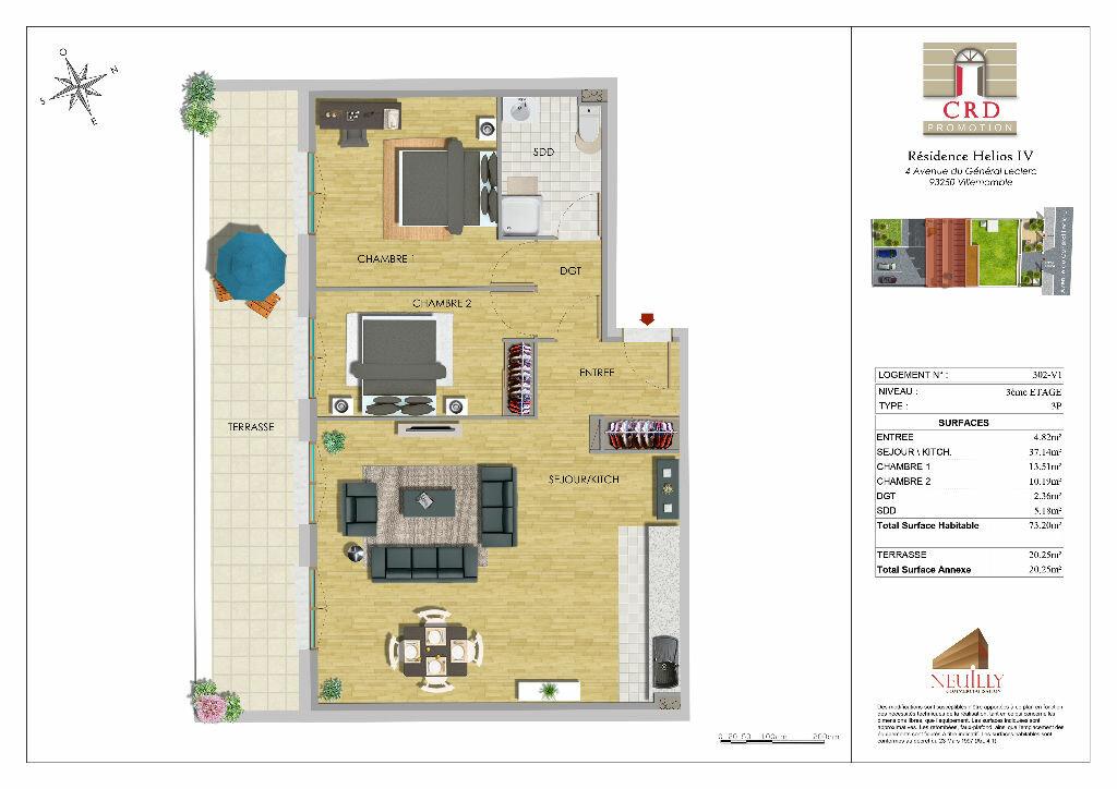 Appartement à vendre 4 73m2 à Villemomble vignette-4
