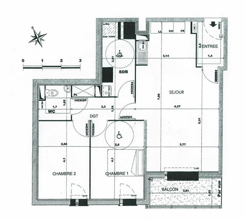 Appartement à louer 3 68.98m2 à Saint-Fargeau-Ponthierry plan-1