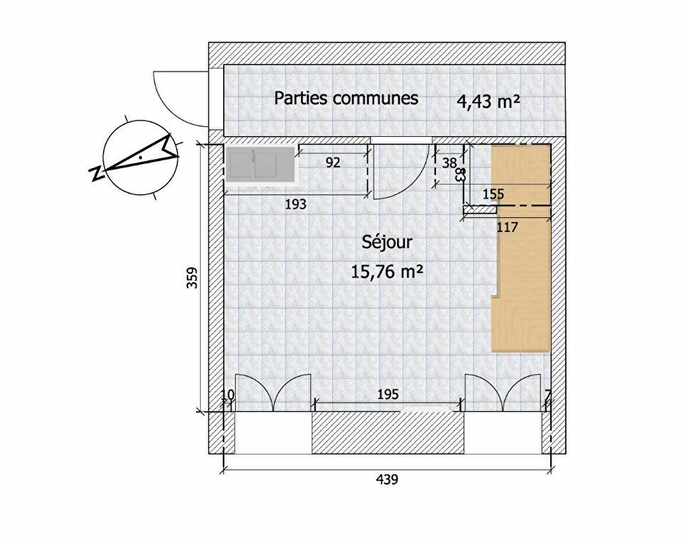 Appartement à louer 2 28.53m2 à Chailly-en-Bière plan-1