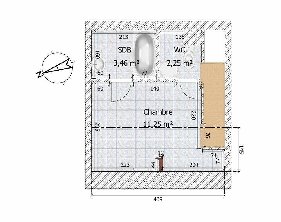 Appartement à louer 2 28.53m2 à Chailly-en-Bière plan-2