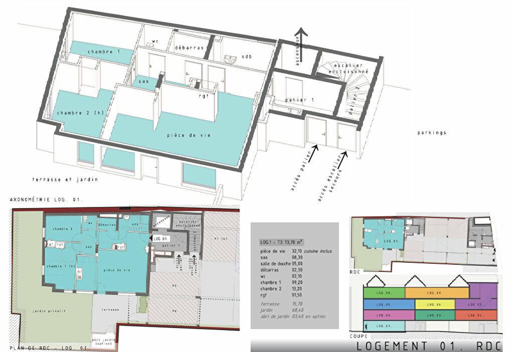 Appartement à vendre 3 74m2 à Bernay plan-1