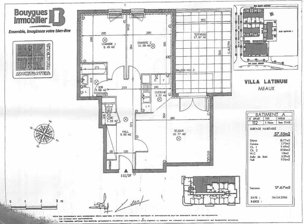 Appartement à vendre 3 57.55m2 à Meaux vignette-2