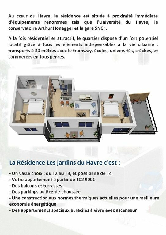 Appartement à vendre 2 41.35m2 à Le Havre vignette-4