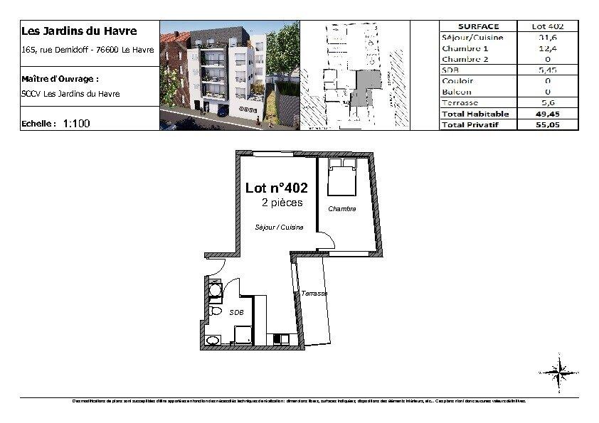 Appartement à vendre 2 49.45m2 à Le Havre vignette-3