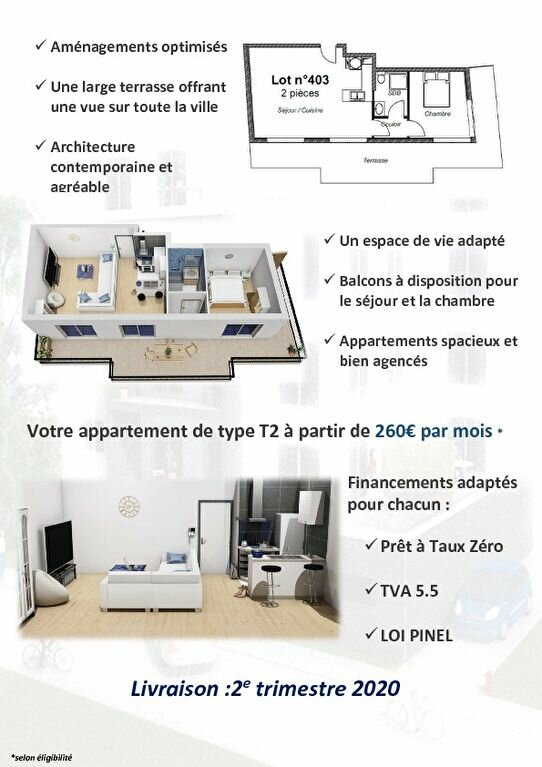 Appartement à vendre 2 49.45m2 à Le Havre vignette-5
