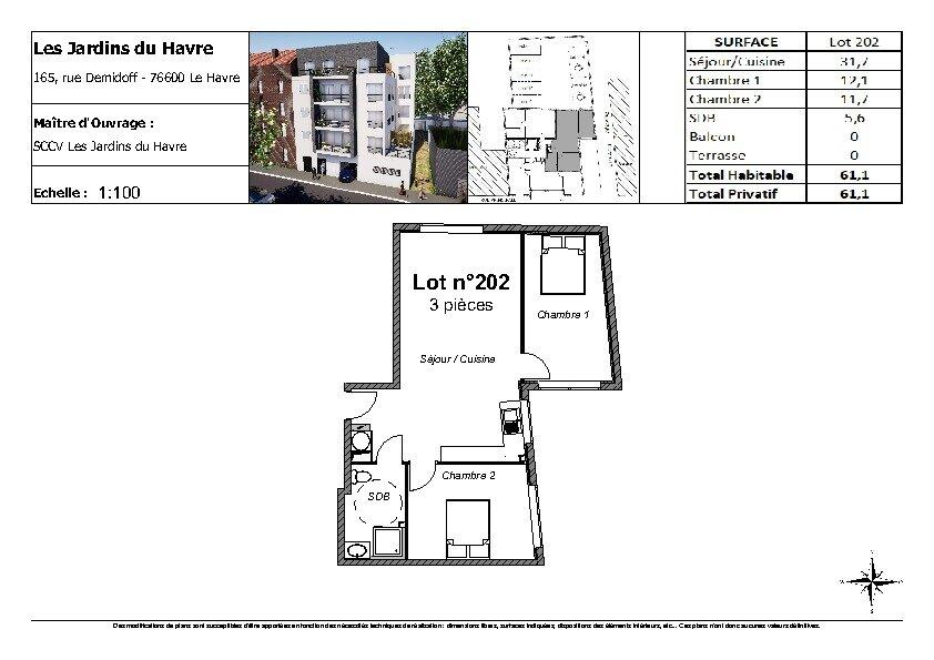 Appartement à vendre 3 61.1m2 à Le Havre vignette-3
